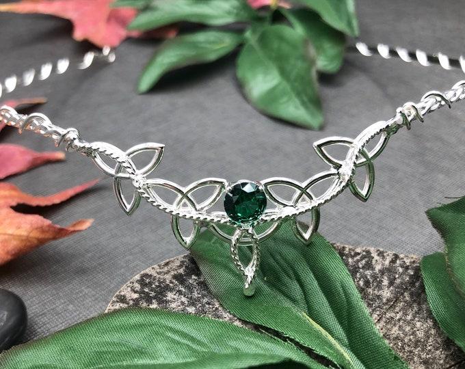 Irish Celtic Trinity Circlet Handmade in Sterling Silver, Wedding Bridal Headpieces, Trinity Knot Wedding Circlet, 925 Bridal Wedding Tiara