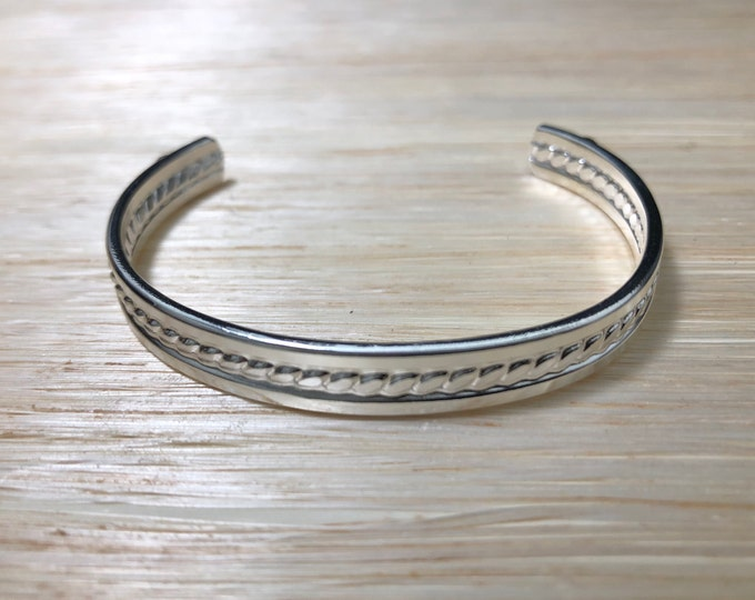 Bangle Cuff Bracelet in Sterling Silver, Gifts For Her, simple Bracelet, Bangles, Cuff Bracelet Sterling Silver, Wrist Cuff