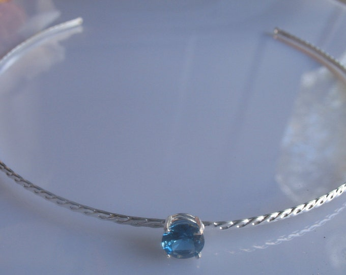 Circlets, Wedding Bridal Tiara with Gemstone in Sterling silver, Bridal Circlet, Simple Tiaras, Headbands, Gifts For Her