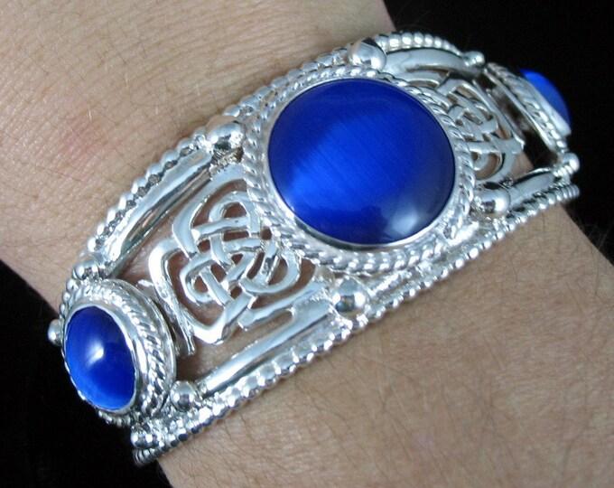 Celtic Knot Cuff Bracelet in Sterling Silver, Wide Heavy OOAK Bracelet Cuffs, Wrist Jewelry, Gifts For Her, Anniversary