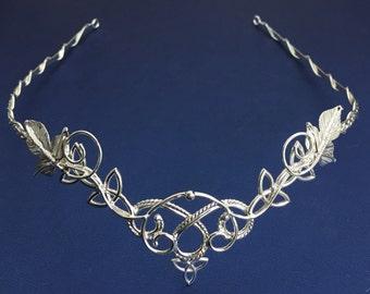 Bohemian Celtic Wedding Circlet in Sterling Silver, Irish Bridal Circlet, Sterling Silver wedding circlet, Celtic Wedding, Irish Wedding