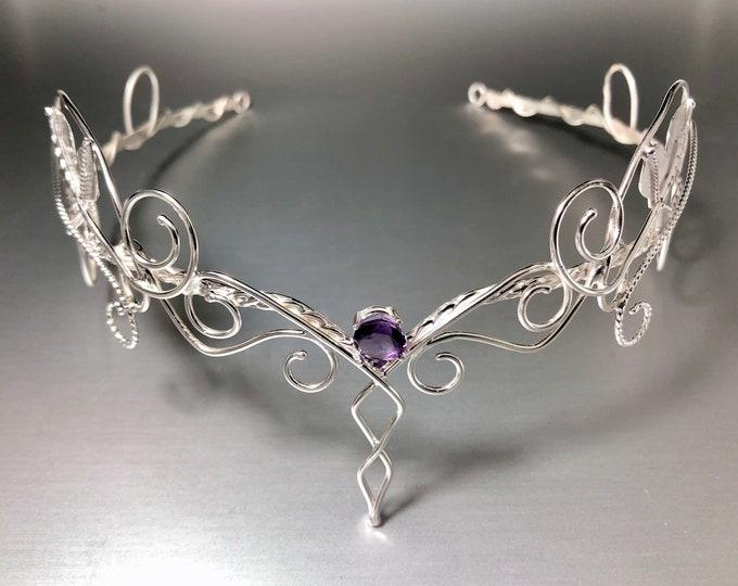 Circlets, Woodland Emerald Sapphire Tiara Sterling Silver, Circlets, Artisan  Woodland Circlet, Woodland Leaf Circlet, Wedding Diadem OOAK