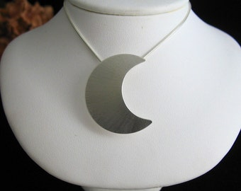 Stevie Nicks inspired Sterling Silver Crescent Moon Necklace with 18 Inch Box Chain 925, Waning Crescent Moon, Waxing Crescent Moon Pendant