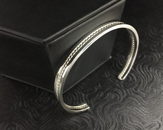 Bangle Cuff Bracelet, Heavy Gauge Sterling Silver Cuff Bracelet, Heavy Bangle Bracelet, Bangles, Cuff Bracelet Sterling Silver, Wrist Cuff