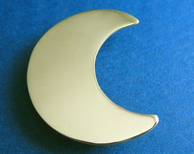 Stevie Nicks Style Crescent Moon 24K GOLD-PLATED Pendant, 925 Sterling Silver Solid 20 gauge Crescent Moon 24K Gold Plate Overlay, Celestial
