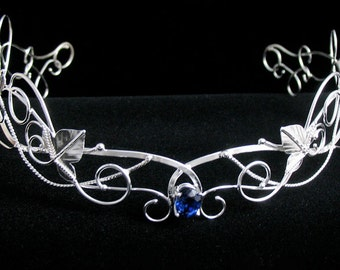Woodland Bridal Crowns, Elvish Inspired Wedding Tiaras, Wedding Circlets in Sterling Silver, Handmade Circlet, OOAK Circlet