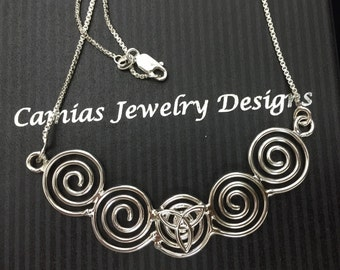 Celtic Knot Symbol Necklaces, Gifts For Her, Renaissance Cosplay Celtic Necklaces, Irish Symbols Necklaces, Celtic Statement Necklace