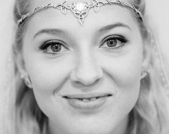 Celtic Circlet, Celtic Wedding Tiara, Irish Diadem 925 Circlet, Handmade Bridal Gemstone Tiara, OOAK, Bespoke Wedding Circlet, Irish Wedding