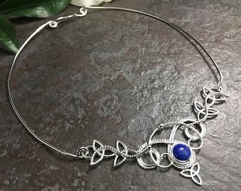 Renaissance Wedding Choker Neck Ring, Celtic Victorian Cosplay Torc Neckpiece, Celtic Choker Necklace, Victorian Chokers