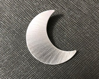 Crescent Moon Pendant, Stevie Nicks Moon Pendant, Crescent Moon Jewelry, Celestial Moon, Solid 20 gauge