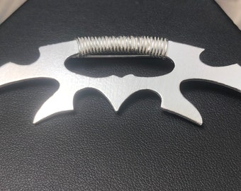 Klingon Bat'leth Cosplay inspired Brooch or Necklace, Batleth Artisan Miniature Jewelry, Cosplay Jewelry, Klingon mek'leth necklaces