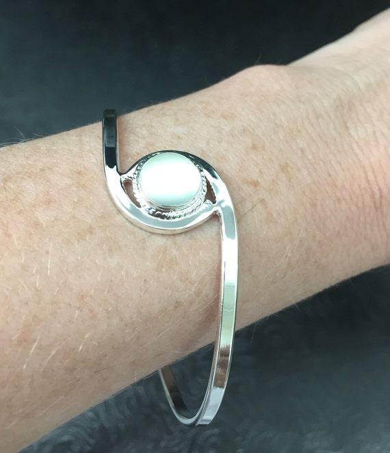 Art Nouveau Bracelet Cuff Artisan Made in Sterling Silver OOAK Victorian Cuff Bracelet Artisan Handmade cuff jewelry Fae Cuff Bracelet