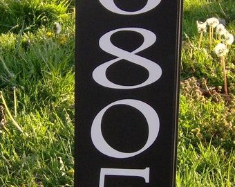 House Number Plaque House Number Sign Street Sign Address Sign Personalize Yard Stake Sign Wood Vinyl Street Sign Vertical Sign Home Decor