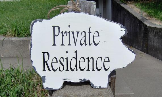 pig cutout wood vinyl sign private residence modern farmhouse etsy