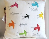 7 birds - cushion