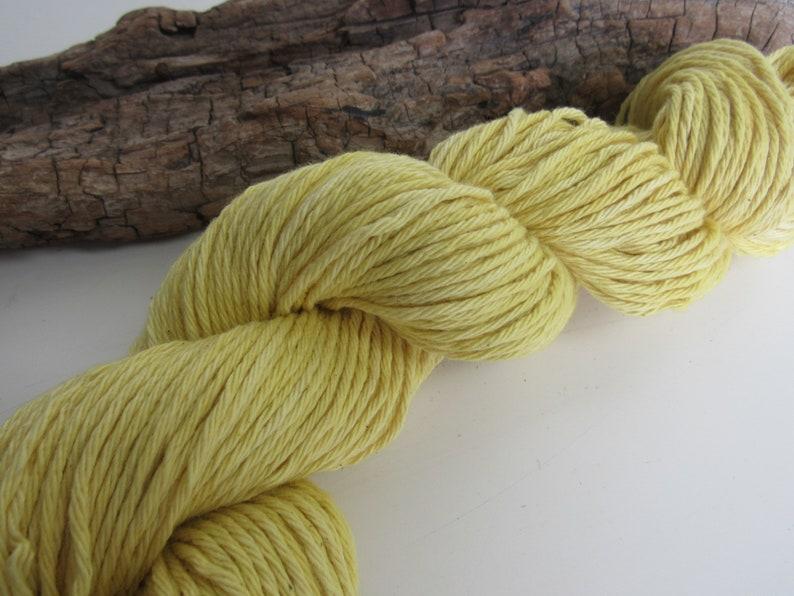 100g Bright Yellow Weld Dyed DK Cotton Yarn
