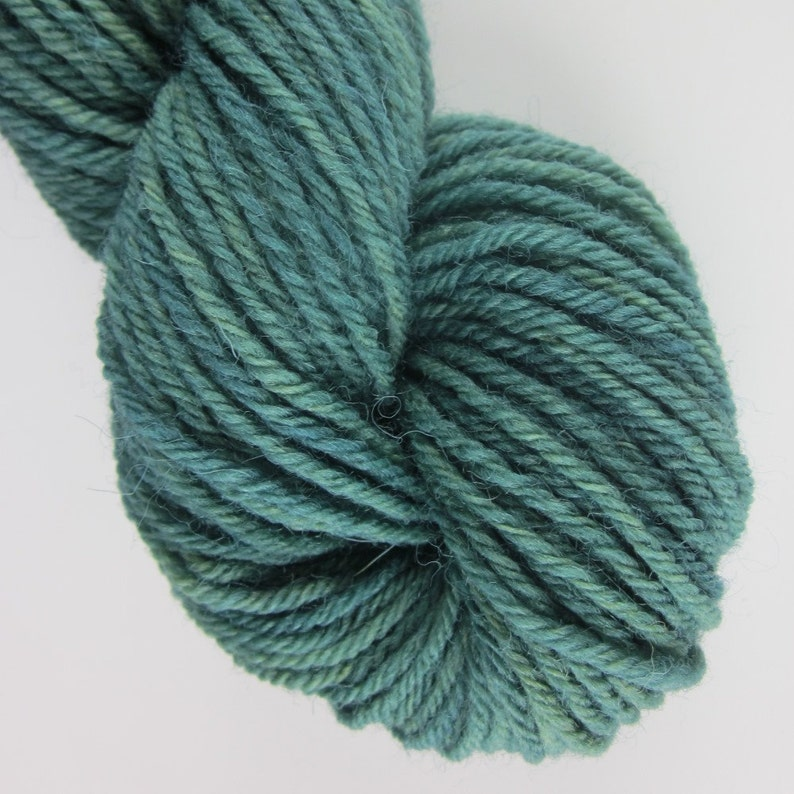 50g Forest Green Naturally Dyed 4-ply Wool Yarn