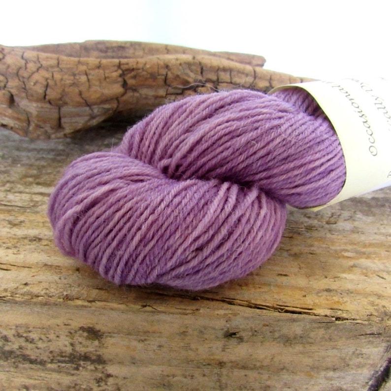 50g Alkanet Lilac Dyed 4-ply Wool Yarn