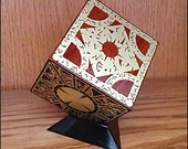 Hellraiser Puzzle Box - Solid Mahogany and Etched Brass, Lament Configuration