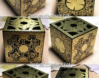 Hellraiser Puzzle Box, All Black and Brass Lament Configuration