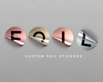 Benutzerdefinierte Klebefolie individuelles Logo Aufkleber personalisierte Aufkleber Produktetiketten zurück, dass die Adresse Gold metallischen Aufkleber - IHR LOGO Etiketten