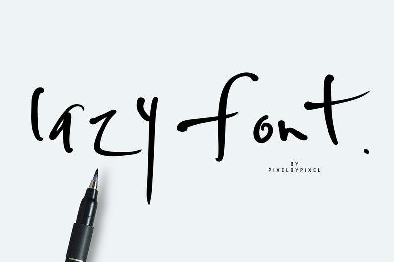 Lazy Font, Freestyle Font, Font Download, Modern Font, Regular Bold Font,  Handwritten Font, Digital Download, Instant Download