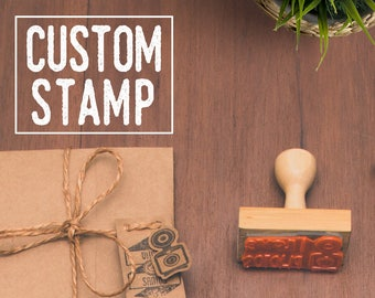 Custom Stamp - Custom Rubber Stamp - Personalized - Logo Stamp - Choose design or send your own