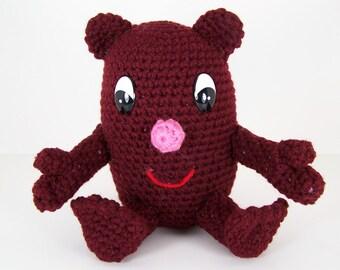 Crochet Amigurumi Stuffed Toy Egghead Plush -   Eggie the Egghead