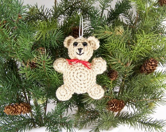 Christmas Ornaments animal crochet amigurumi bear - Made to Order