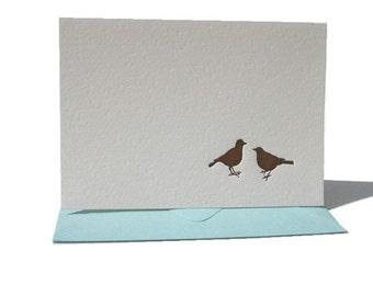 love birds letterpress notecard set