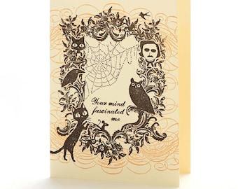 A2-161 - Edgar Allan Poe-  Note Card