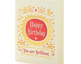 A2-156 You're Brillant-Birthday -- Note Card