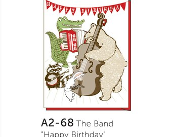 A2-68 The Band, Happy Birthday --  Note Card