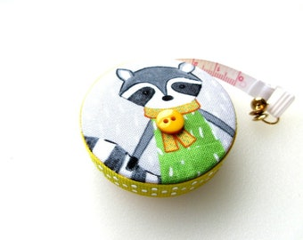 Tape Measure Winter Racoon Woodland Small Retractable Measuring Tape