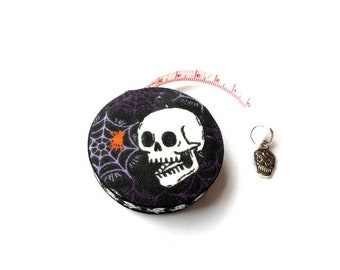 Tape Measure Spider Webs and Skulls Small Retractable Measuring Tape