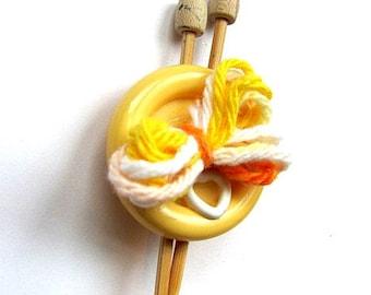 I Love Knitting Brooch Pin FREE US Shipping