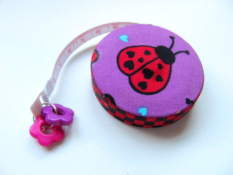 Tape Measure Heart Butterflies and Ladybugs Retractable Measuring Tape