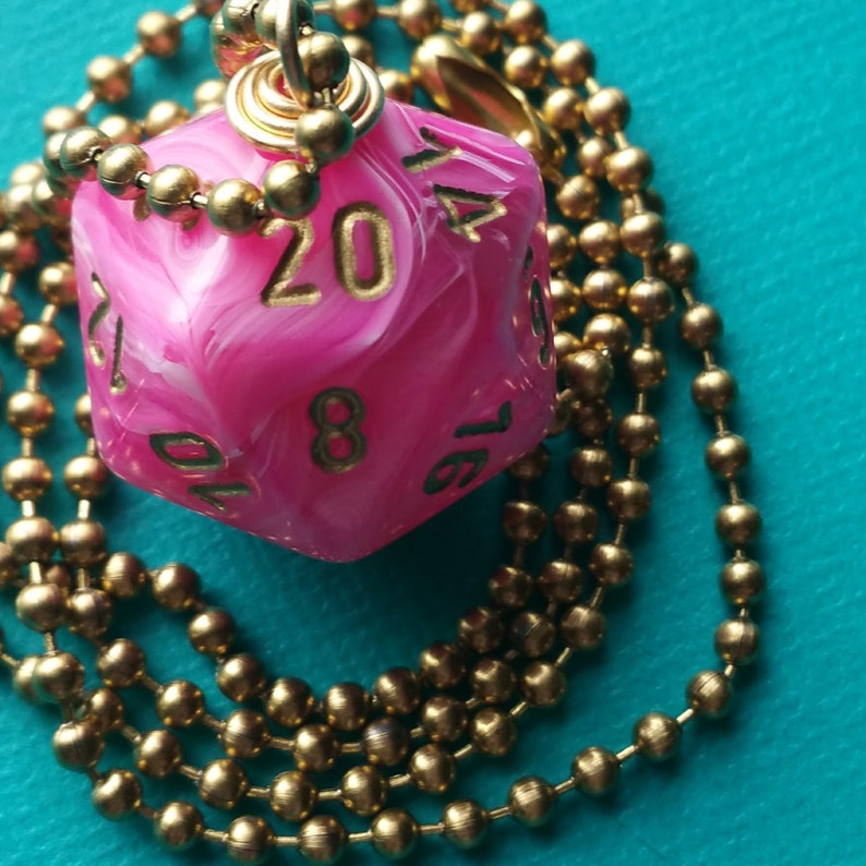 NEW STYLE  Dungeons & Dragons  D20 Die Necklace  Vortex image 0
