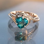 Sea Swept - Teal Topaz gemstone ring