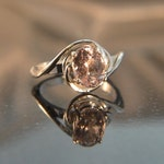 Love Knot - Pink Tourmaline gemstone ring - reserved for Sandra