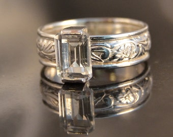 Splendor - White Topaz gemstone ring