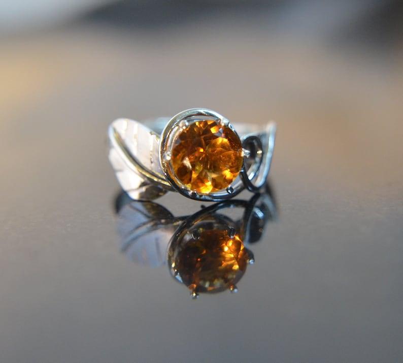 Harvest  Natural Citrine gemstone and Sterling Silver image 0