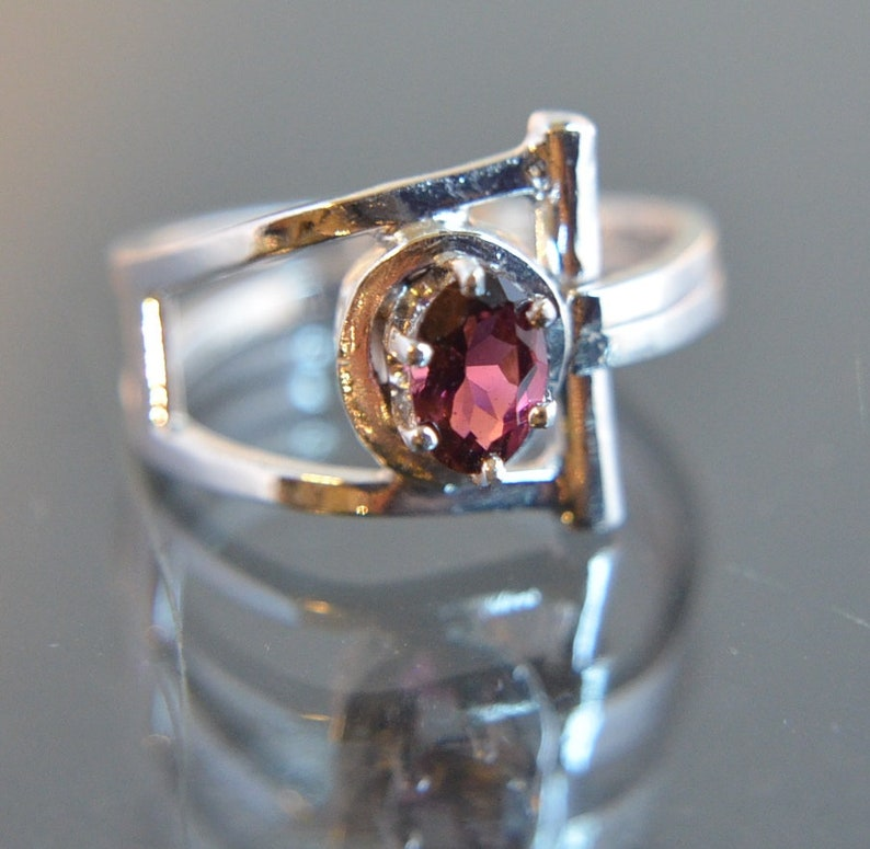 True  Natural Red Tourmaline gemstone and sterling silver image 0