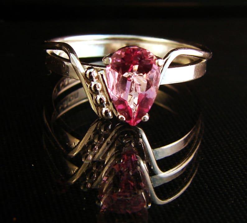 Zinged  Pink Topaz gemstone ring image 0