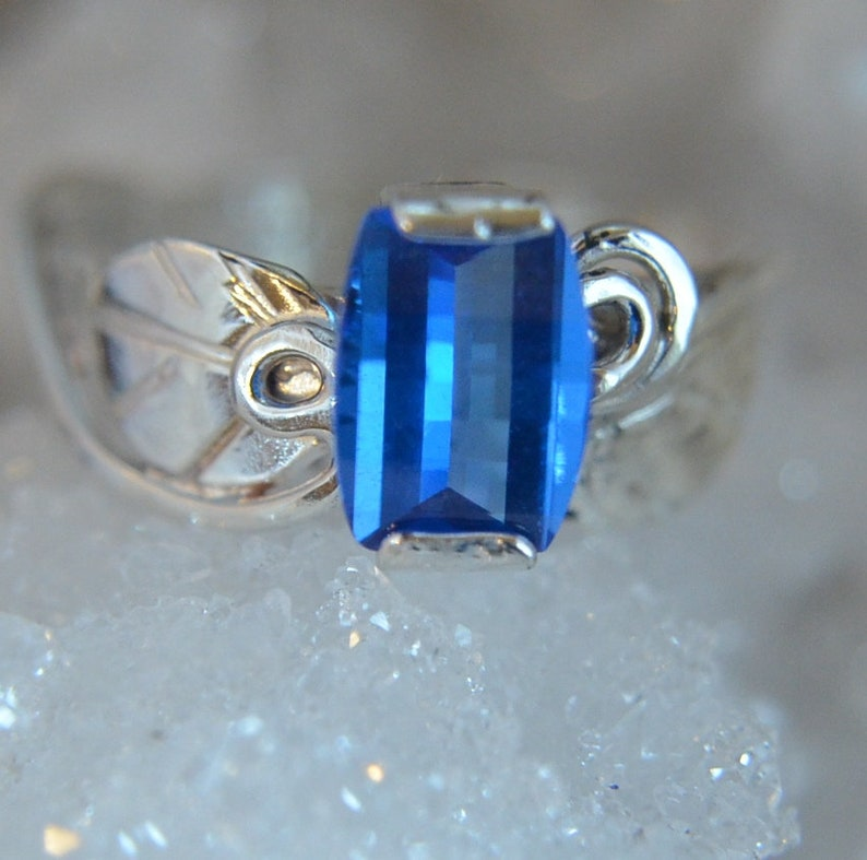Become Blue  Topaz gemstone and sterling silver ring image 0