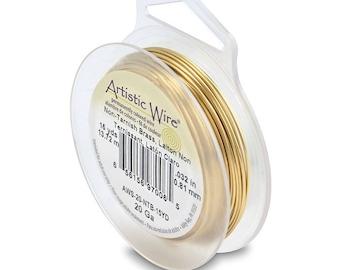 Tarnish Resistant Brass Round Artistic Wire - Craft Wire - Choose 20, 22, 24, 26 Gauges