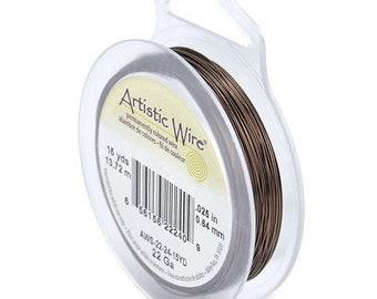 Antique Brass Round Artistic Wire - Craft Wire - Choose 18, 20, 22, 24, 26 Gauges