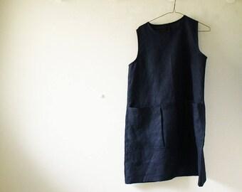 LINEN TUNIC DRESS / women /  linen clothing / handmade in australia / pamelatang