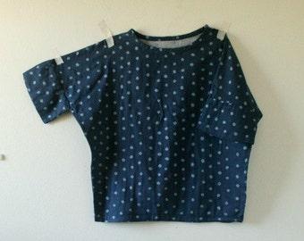 ESSIE BLOUSE/ polka dots / metallic / women / top / denim / over size tee / cotton / made in australia / pamelatang