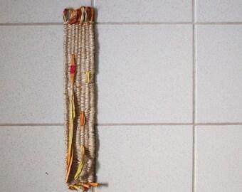HANDWOVEN WALL HANGING / small weaving / fibre art / modern contemporary wall art / original textile art / by pamelatang